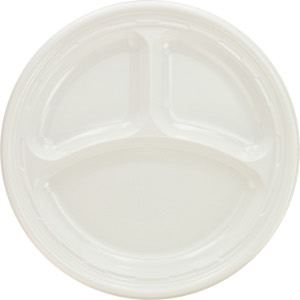 ... 9-Inch Three-Compartment Plastic Plate (500)  sc 1 st  Stewartu0027s Packaging & 9