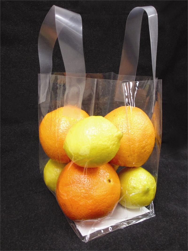 Clear Soft Loop Handle Bags