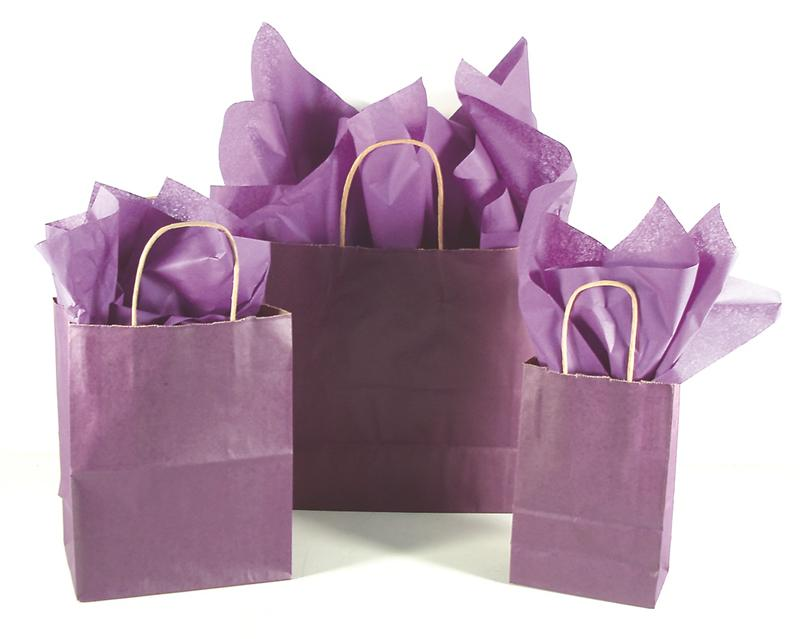 PURPLE SHOPPING BAGS