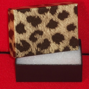 2-7/16 x 1-5/8 x 13/16 Leopard Print Gift Boxes (100
