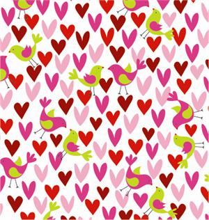 "24"" x 100' Birds and Hearts Cutter Box/Gift Wrap 	Preview Product on Storefront"