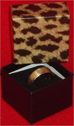 1-5/8 x 1-5/8 x 1-1/4 Leopard Print Gift Boxes
