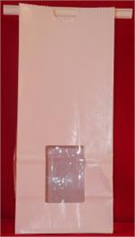 Half-Pound WhiteTin Tie Bags with Windows (100)