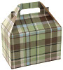 Kensington Plaid/Kraft Gable Boxes