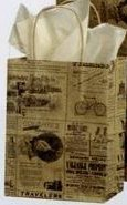 8 x 4-3/4 x 10-1/2 Newsprint Shopping Petite Bags (100)