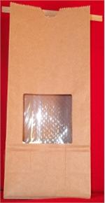 Pound Natural Kraft Tin Tie Bags with Windows (100)