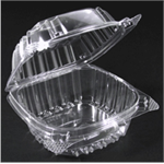 Clear Plastic Hinged Lid Containers