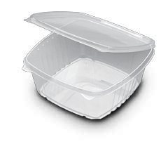 100 Post Consumer Recycled Clear Hinged Lid Oblong