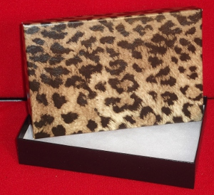 5-7/16 x 3-1/2 x 1 Leopard Print Gift Boxes (100)