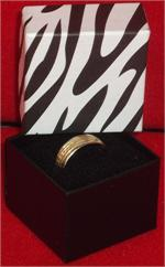 1-5/8 x 1-5/8 x 1-1/4 Zebra Print Ring Boxes (50)
