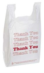 Thank You T-Shirt Bags - Stewart's Packaging, Houston